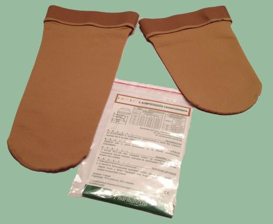 Ciorapi compresivi de bont, grad mediu de compresie, pentru amputatie de coapsa